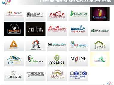 Logos for Home/ Real Estate/ Property Dealing Sectors