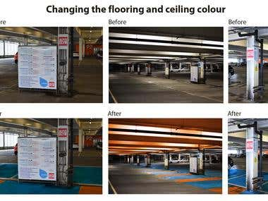 Changing the flooring and ceiling colour
