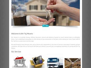 Packing Services Website
