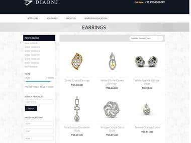 Diaonj - Ecommerce Jewellery store