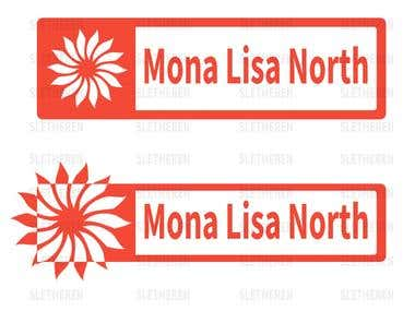 Mona lisa NORTH logo design