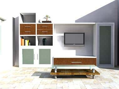 Wall cabinet design-01 and 02