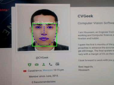 Emotion detection Android application using CLNF model.