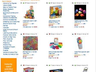Amazon Best Seller products Scrapping and save to Mysql DB