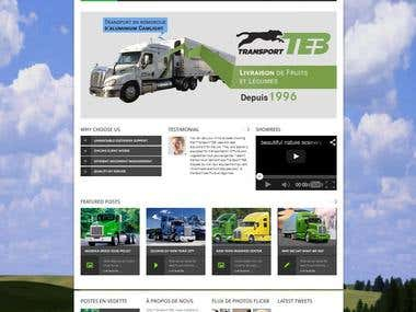 Wordpress Website for Freight Company