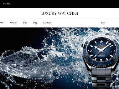 WooCommerce Luxury Watch Shop