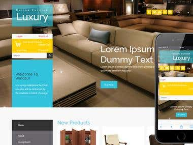 WooCommerce Luxury Furnish Store