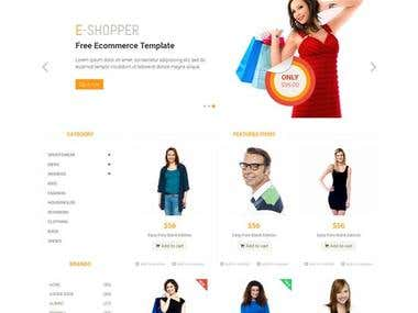 Magento online shopping website