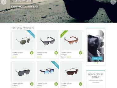 Magento Sunglass online shop