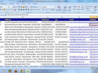 Building database online