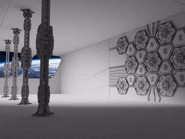 Sci-Fi spaceship Interior