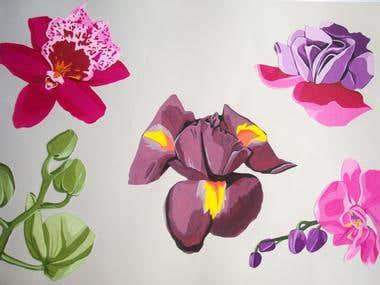 Textile Design - Pattern - Illustration- Floral style