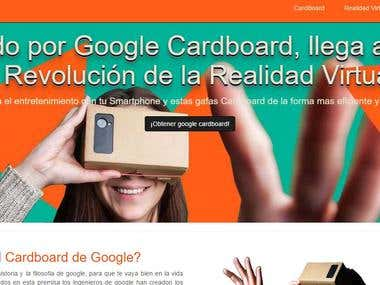 Sitio promocional para Cardboard inspirada Google Cardboad