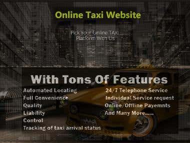 Online Taxi Web+App Like Uber