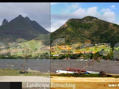 landscape retouching
