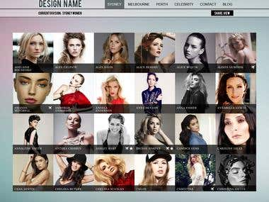 Website for modelling agency
