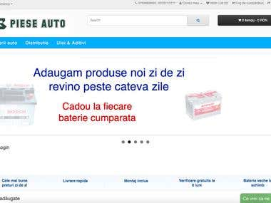 Open cart auto parts website, building and mantaining