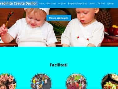 Kindergarten website. One page scroll