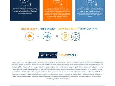 Solar Wind Energy Website Design