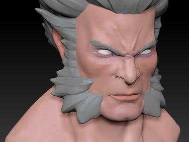 Wolverine bust wip