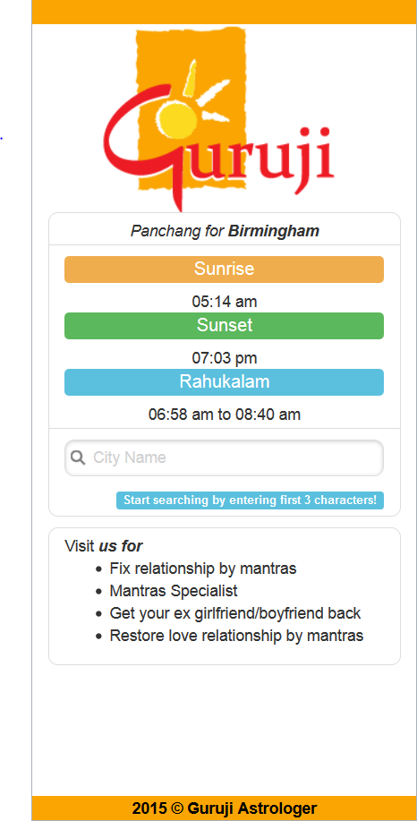 Panchang (PHP MySQL, jQuery Mobile) (Apr 2015)   Freelancer