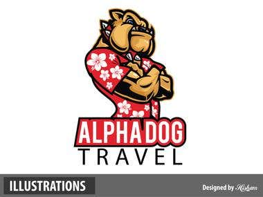Alpha Dog Illustrated Logo