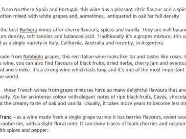 some facts about wines