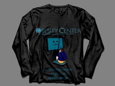 t-shirt with logo and cartoon i designed
