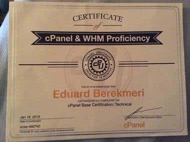 cPanel /WHM Tehnical Certification