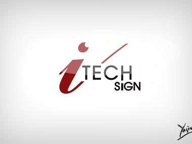 I Tech Sign Logo
