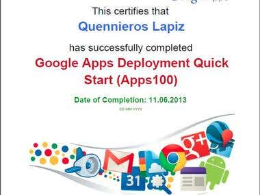Google Apps Certificate