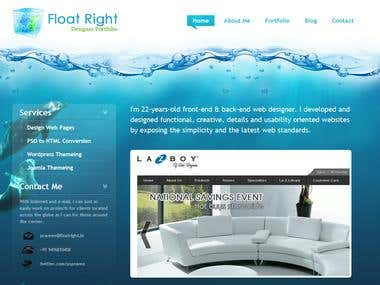 Float Right - My Portfolio