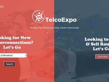 TelcoExpo - Website Built in Backbone.JS