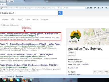 Ranking in google.com.au