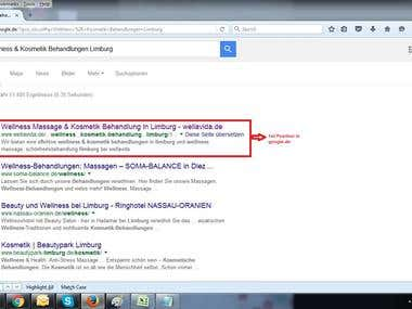 Ranking in google.de
