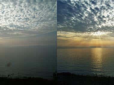 Landscape image editing