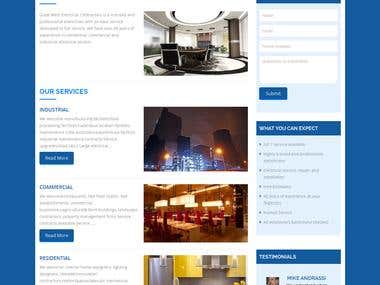 Wordpress Site for electrical contractors.