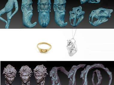 Sculptural Jewelry models