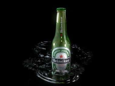 3D Intro Heineken Bottle