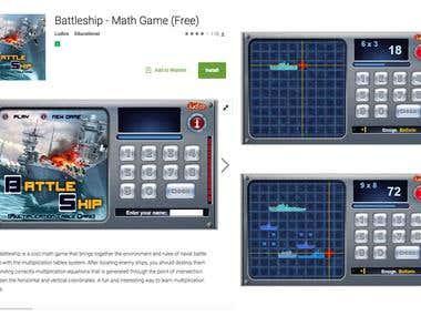 Battleship - Multiplication Table Game