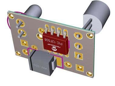Magnetometer using Pic12f1840 Microcontroller