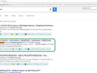 2nd position Google.com.cy