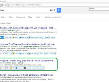 3rd position on Google.pl