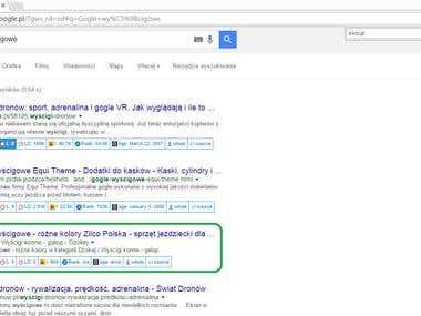 3rd position on Google.pl