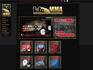 L-1 MMA eCommerce Wordpress Web Design & Development