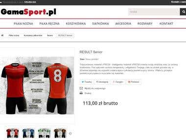 gamasport.pl website