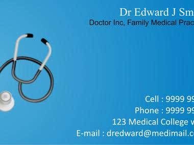 Doctor's Business Card