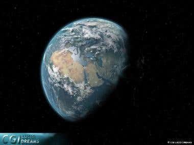 CGI Earth shot