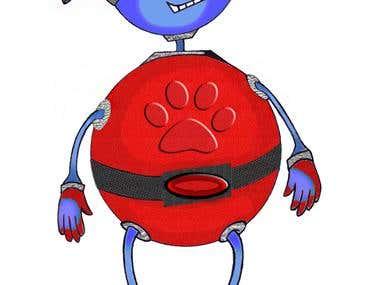 Blue fat guy
