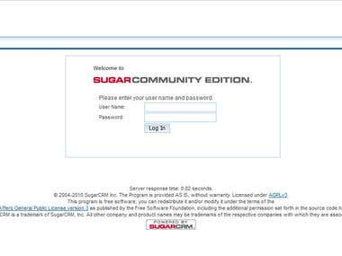 Provided different serivce in SugarCRM system